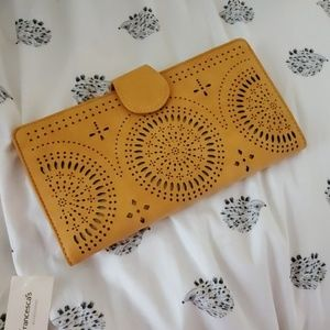 Mustard yellow wallet NWT